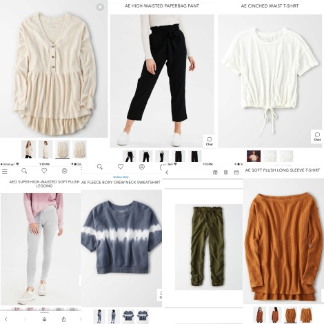 American Eagle, AE, American Eagle haul, lounge wear, loungewear, comfy clothes, sweatpants