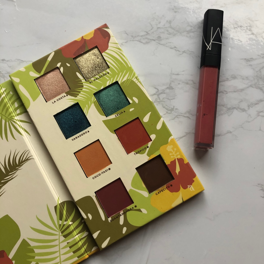 beauty, makeup, eyeshadow, eyeshadow palette, lip gloss, Alamar Cosmetics, NARS