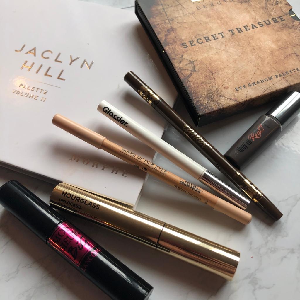makeup, beauty, morphe, kash beauty, benefit, tarte, glossier, makeup forever, hourglass, lancome, mascara, eyeliner, brow pencil, eyeshadow
