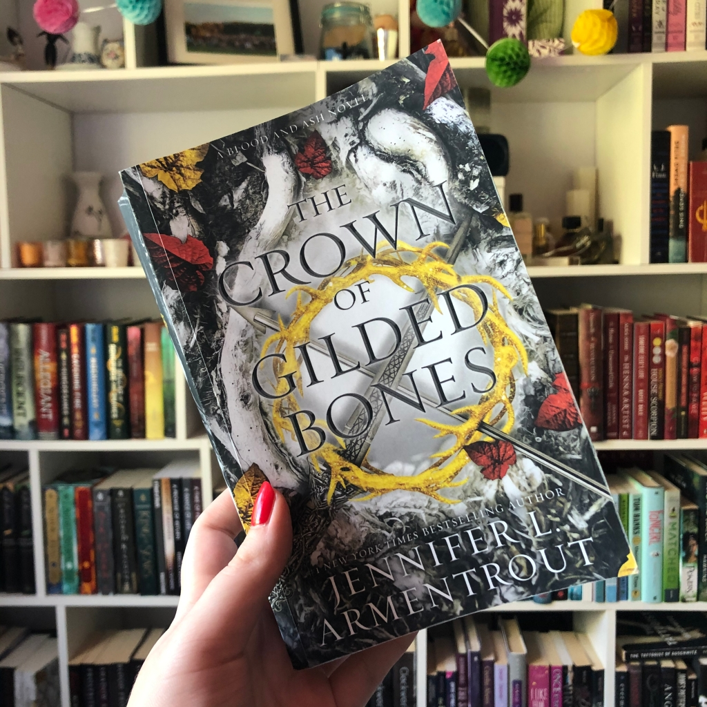 """""""The Crown of Gilded Bones"""", the third book in the Blood and Ash series by Jennifer L. Armentrout."""